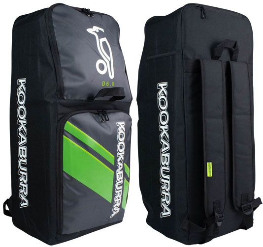 Kookaburra D6 Duffle Bag (Black/Lime)