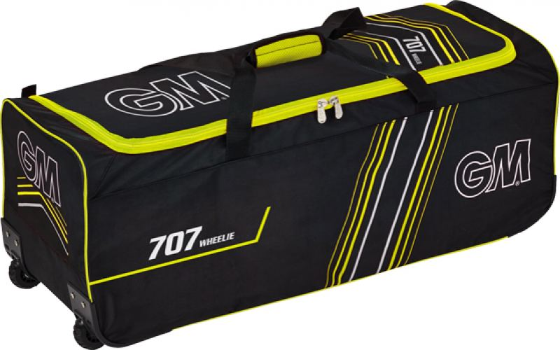 Gunn and Moore 707 (Black/Yellow) Wheelie Bag