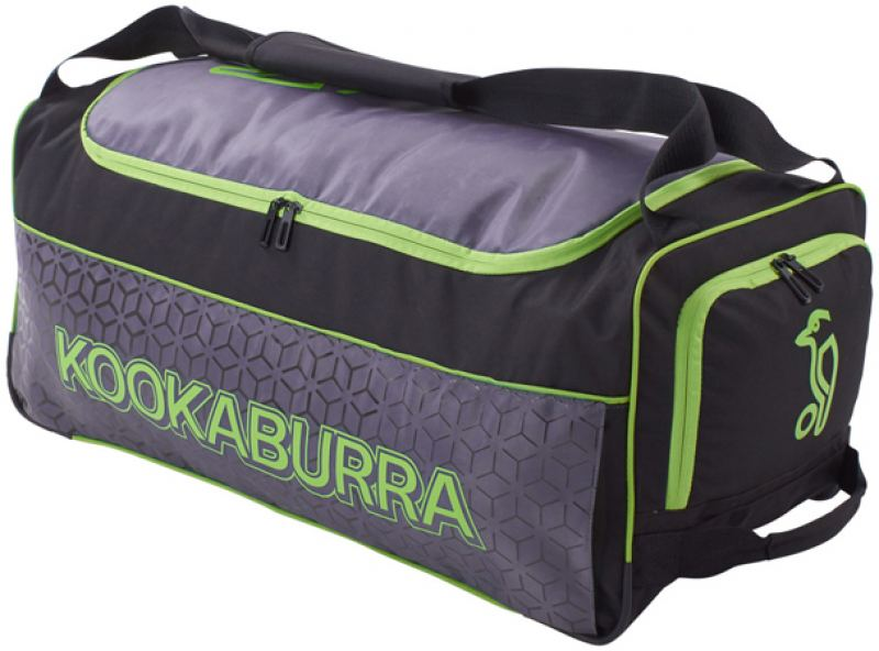 Kookaburra 5.0 Wheelie Bag (Black/Lime)
