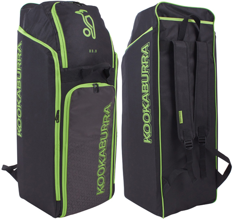 Kookaburra D3 Duffle Bag (Black/Lime)