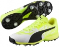 Puma evoSPEED 1.5 Cricket Spike (White - Black - Yellow)